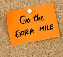 Go The Extra Mile Sticker