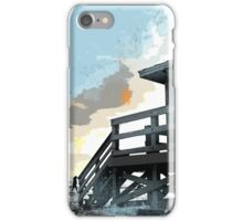 Weathered Life Guard Station at the Shoreline iPhone Case/Skin