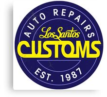 Los Santos Customs Circle Logo Canvas Print