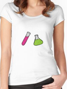 They Let Me Play with Chemicals Women's Fitted Scoop T-Shirt