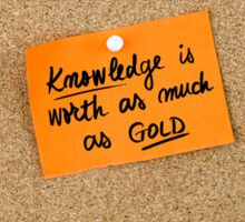 Knowledge Is Worth As Much As Gold Sticker
