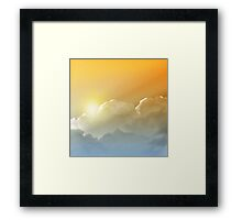 Sunset in the Clouds Framed Print