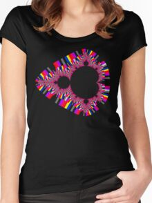 Psychedelic Mandelbrot Women's Fitted Scoop T-Shirt