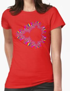 Psychedelic Mandelbrot Womens Fitted T-Shirt