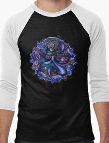 Steampunk Octopus Tentacle Tea Party Men's Baseball ¾ T-Shirt