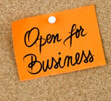 Open For Business  Sticker