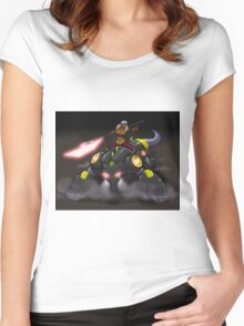 Lady and the Cyber-Beast Women's Fitted Scoop T-Shirt
