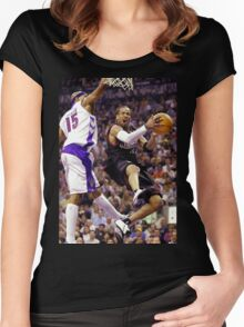 Allen Iverson retro flow Women's Fitted Scoop T-Shirt