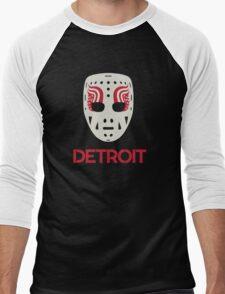 Vintage Detroit Red Wings Goalie Mask Men's Baseball ¾ T-Shirt