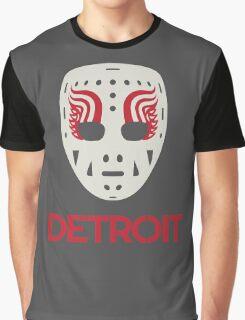 Vintage Detroit Red Wings Goalie Mask Graphic T-Shirt