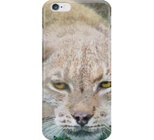 Eye to Eye with a Lynx in the Grass iPhone Case/Skin