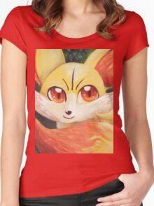 Fire Up Fennekin!!! Women's Fitted Scoop T-Shirt