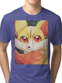 Fire Up Fennekin!!! Tri-blend T-Shirt