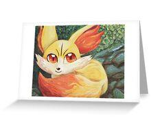 Fire Up Fennekin!!! Greeting Card