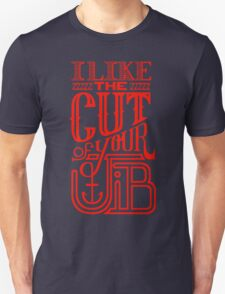 Cut of your Jib Typography – Red Unisex T-Shirt