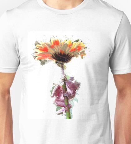 Frog with Flower Umbrella Unisex T-Shirt