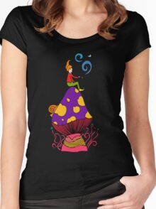 Smoking Gnome 2 Women's Fitted Scoop T-Shirt