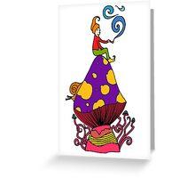 Smoking Gnome 2 Greeting Card