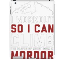 Funny workout iPad Case/Skin