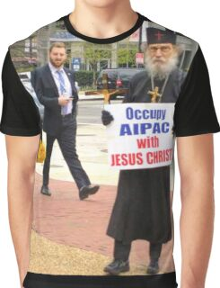Occupy AIPAC with Jesus Christ Graphic T-Shirt