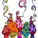 Three Smoking Gnomes by Octavio Velazquez
