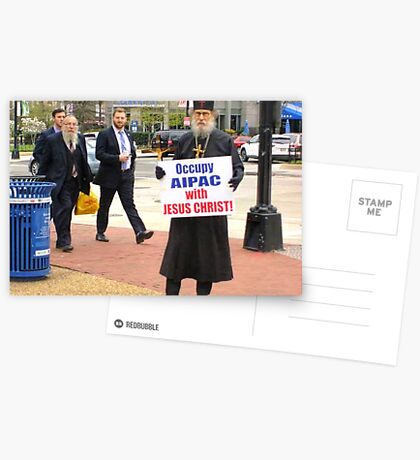 Occupy AIPAC with Jesus Christ Postcards