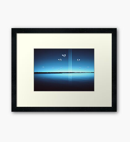 The Finest Paper Planes in the Galaxy IX: Like Moths to a Flame Framed Print