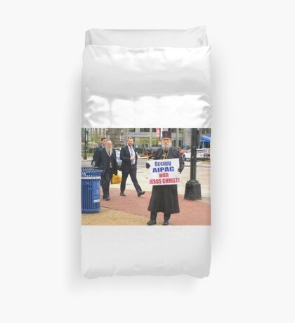 Occupy AIPAC with Jesus Christ Duvet Cover