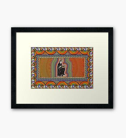 To See Beyond the Veil, Hildegard of Bingen Framed Print