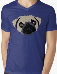 Puggo Mens V-Neck T-Shirt