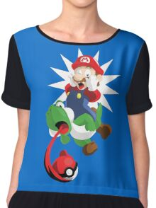 Gotta Eat Them All! Chiffon Top