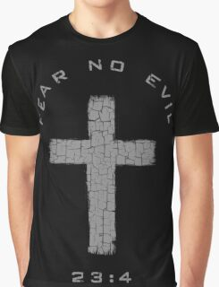 Fear No Evil - Cross (Gray) Graphic T-Shirt