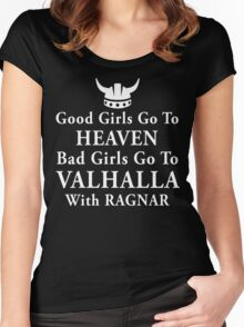Bad girls go to Valhalla Women's Fitted Scoop T-Shirt