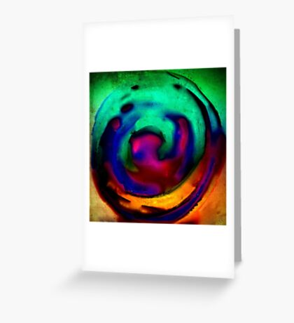 Crystal Ball Green Greeting Card