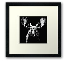 Bull moose white  Framed Print