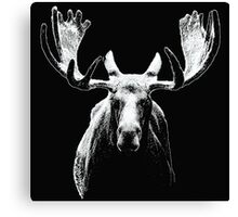 Bull moose white  Canvas Print