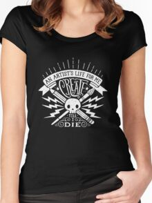 Artist's Life Women's Fitted Scoop T-Shirt