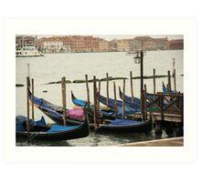 Venetian Cars Art Print