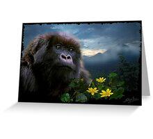 """""""Hope"""" (Mountain Gorilla) Greeting Card"""