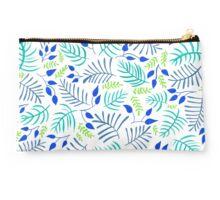 Tropical Palm Fern Pattern - Watercolour Illustration Studio Pouch