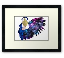 Wing In Purple Stars Framed Print