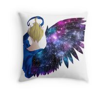 Wing In Purple Stars Throw Pillow