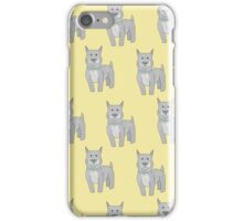 Pit Bull on Yellow iPhone Case/Skin