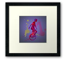 The Unicyclist Framed Print