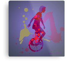 The Unicyclist Metal Print