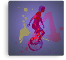 The Unicyclist Canvas Print