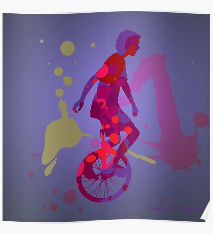 The Unicyclist Poster