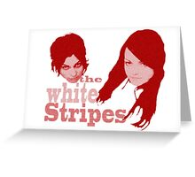 The White Stripes - red circles Greeting Card
