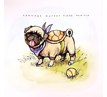 Teenage Mutant Ninja Pug-tle  Photographic Print