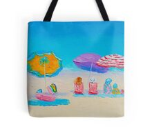 Beach Art - A Day at the Seaside Tote Bag